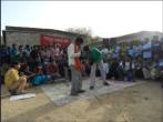 Children trained by Tarang giving a performance